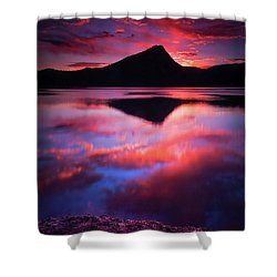 A New Start Shower Curtain by John De Bord
