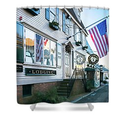 A Newport Wharf Shower Curtain
