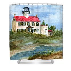 A Nice Day At The Point  Shower Curtain