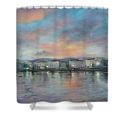 A Night At Geneva Shower Curtain