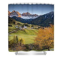 A Night In Dolomites Shower Curtain