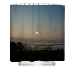 A Night In The Lands Of The Dragons Shower Curtain
