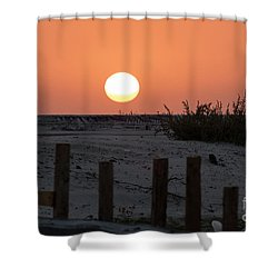 A November Sunset Scene Shower Curtain
