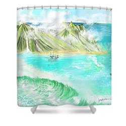 A Ocean Some Where Shower Curtain