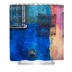 A Painted Wall Shower Curtain