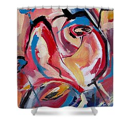 A Pair Of Roses Shower Curtain by John Jr Gholson