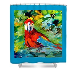 Papagalos Shower Curtain