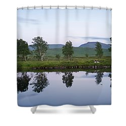 A Pastel Sky Over Loch Ba Shower Curtain