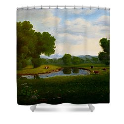 A Pastoral Landscape Shower Curtain