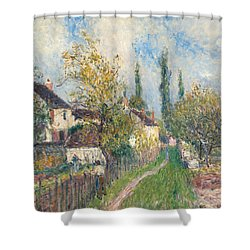 A Path At Les Sablons Shower Curtain