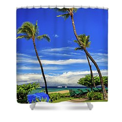 Shower Curtain featuring the photograph A Path In Kaanapali by James Eddy