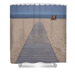 A Path To The Sea Point Pleasant Beach Nj Shower Curtain