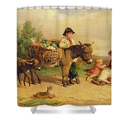 A Pause On The Way To Market Shower Curtain by J O Bank