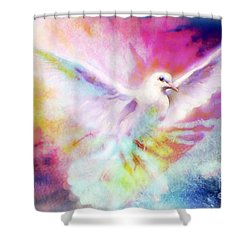 A Peace Dove Shower Curtain