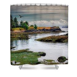 A Peaceful Bay Shower Curtain