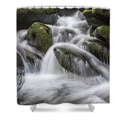 A Peaceful Flow Shower Curtain