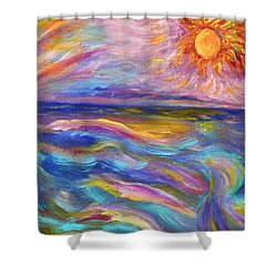 A Peaceful Mind - Abstract Painting Shower Curtain by Robyn King