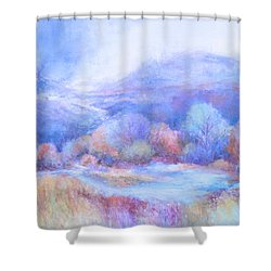 A Peaceful Place Shower Curtain by Glory Wood