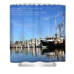 A Peaceful Port Shower Curtain