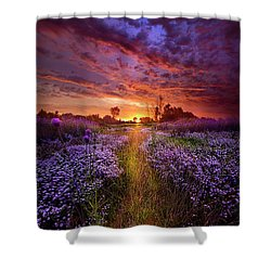 A Peaceful Proposition Shower Curtain by Phil Koch