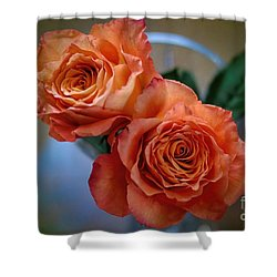 Shower Curtain featuring the photograph A Peach Delight by Diana Mary Sharpton