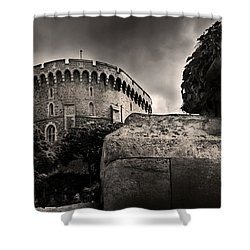 A Peak At The Tower Pictorial Shower Curtain