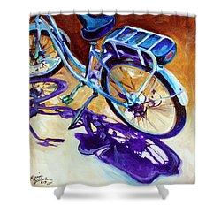 A Pedego Cruiser Bike Shower Curtain by Marcia Baldwin