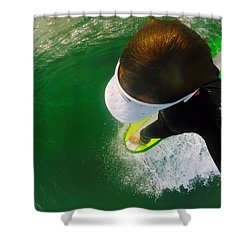 A Pelican's View Shower Curtain by William Love