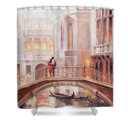 Shower Curtain featuring the painting A Perfect Afternoon In Venice by Steve Henderson
