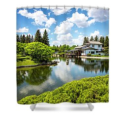 A Perfect Day In The Garden Shower Curtain