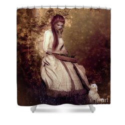 Shower Curtain featuring the digital art Lost In Thought by Shanina Conway
