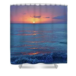 A Perfect Finish Shower Curtain by Valerie Rosen