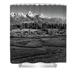 A Perfect Frosty Morning In Grey Scale Shower Curtain