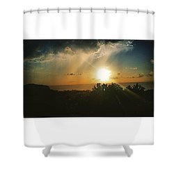 A Perfect Sunset  Shower Curtain