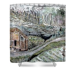 A Piece Of Earth From Hills Of Northeast India Shower Curtain