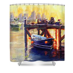 A Pier Shower Curtain