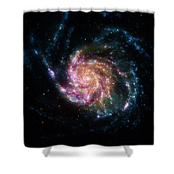 A Pinwheel In Many Colors Shower Curtain