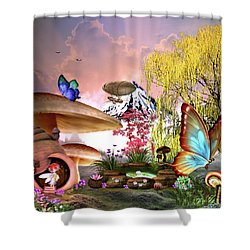 A Pixie Garden Shower Curtain