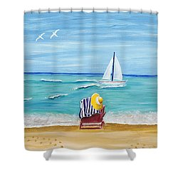 A Place For Rest Shower Curtain by Susan Schmitz