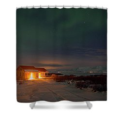 Shower Curtain featuring the photograph A Place For The Night, South Of Iceland by Dubi Roman