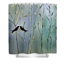 Shower Curtain featuring the painting A Place For Us by Dolores  Deal
