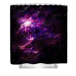 A Place Of Agony Shower Curtain by Rachel Christine Nowicki