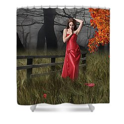 Shower Curtain featuring the mixed media A Place To Remember by Marvin Blaine
