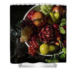 A Plate Of Fruits Shower Curtain