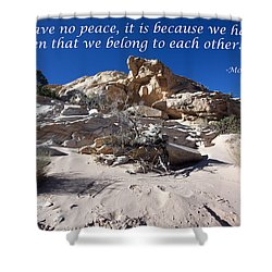 A Plea For Peace Shower Curtain