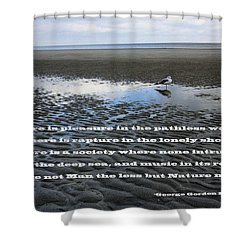 A Pleasure Shower Curtain by Mary Haber