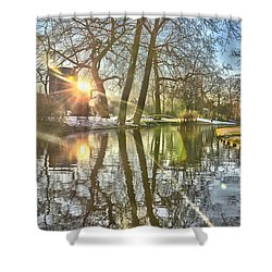 A Pond In Rotterdam Shower Curtain