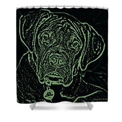 A Positive Negative Shower Curtain by DigiArt Diaries by Vicky B Fuller