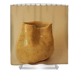 Shower Curtain featuring the photograph A Pot On A Leaf by Itzhak Richter