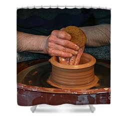 A Potter's Hands Shower Curtain